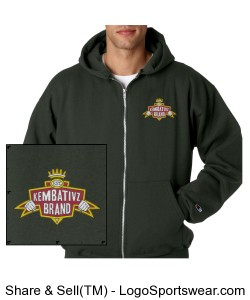 Zippered Heavyweight Embroidered Kembativz Hoodie Design Zoom