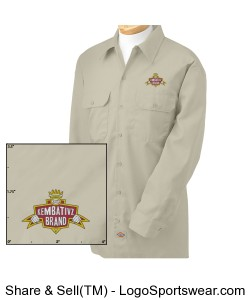 Dickies Kembativz Brand Twill Embroidered Workshirt Design Zoom